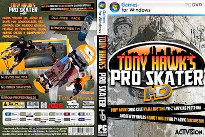 Jogo Tony Hawk's Pro Skater HD PC DVD Capa