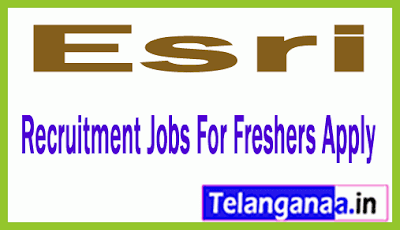 Esri  Recruitment Jobs For Freshers Apply
