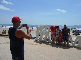 letreiro turístico de itapema