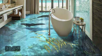3D tile flooring images 3d bathroom tiles designs 2019