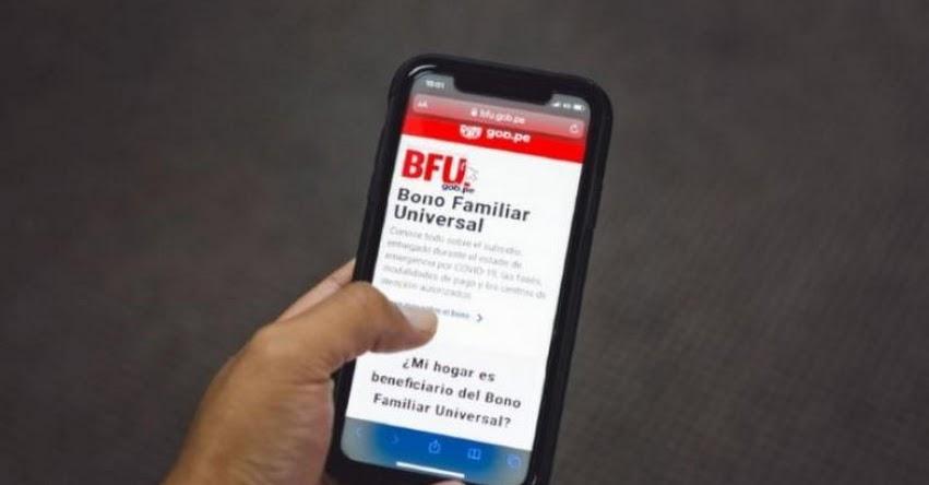 BONO FAMILIAR UNIVERSAL: Continúa proceso de registro para el pago de S/ 760 mediante Banca Celular - www.bfu.gob.pe