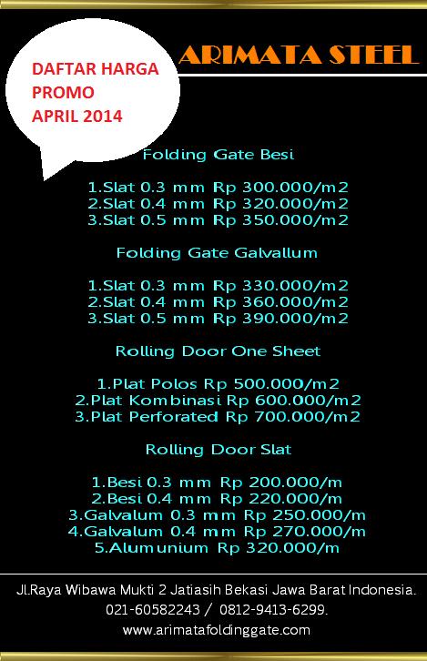 Harga Folding Gate Murah