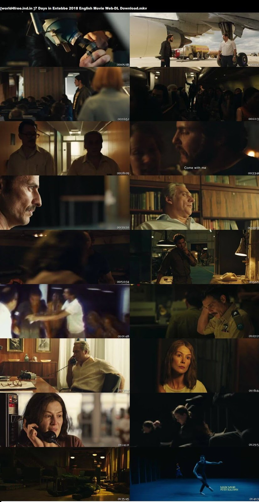 SCreen Shoot of 7 Days in Entebbe 2018 English 300MB Movie Web-DL 480p