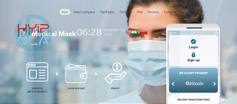 [SCAM] Review MedmaskInvest - Dự án chiến nhanh lãi từ 8% hằng ngày - Thanh toán tức thì