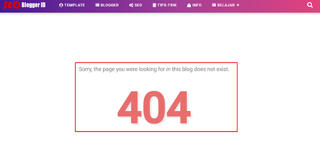 Custom Error 404 di Blogger