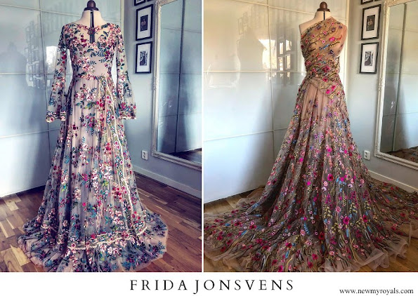 Crown Princess Victoria wore a new wildflowers patterned dress by Swedish designer Frida Jonsvens
