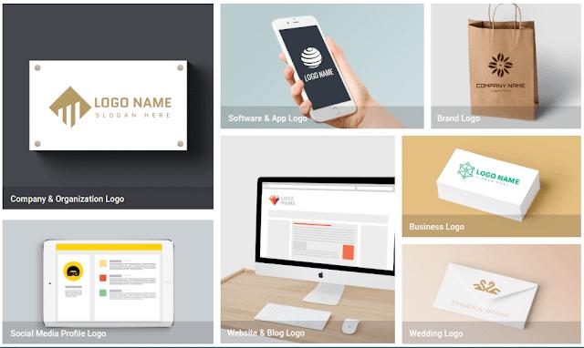 ما الذي يمكنك إنشاؤه باستخدام صانع الشعارات DesignEvo؟