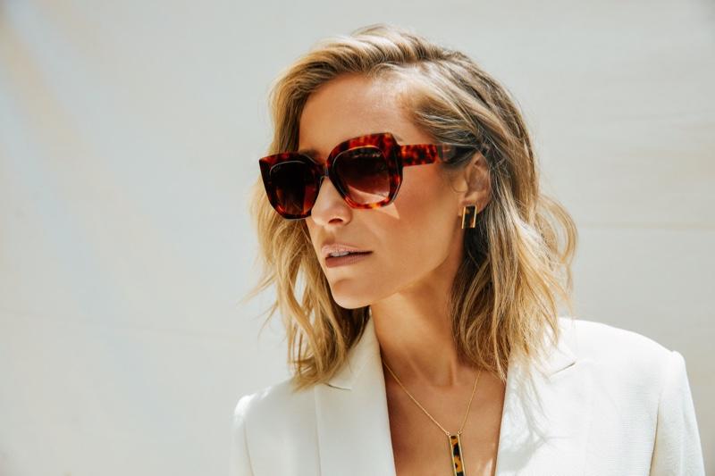 Kristin Cavallari rocks retro inspired frames in Uncommon James x DIFF Eyewear campaign.