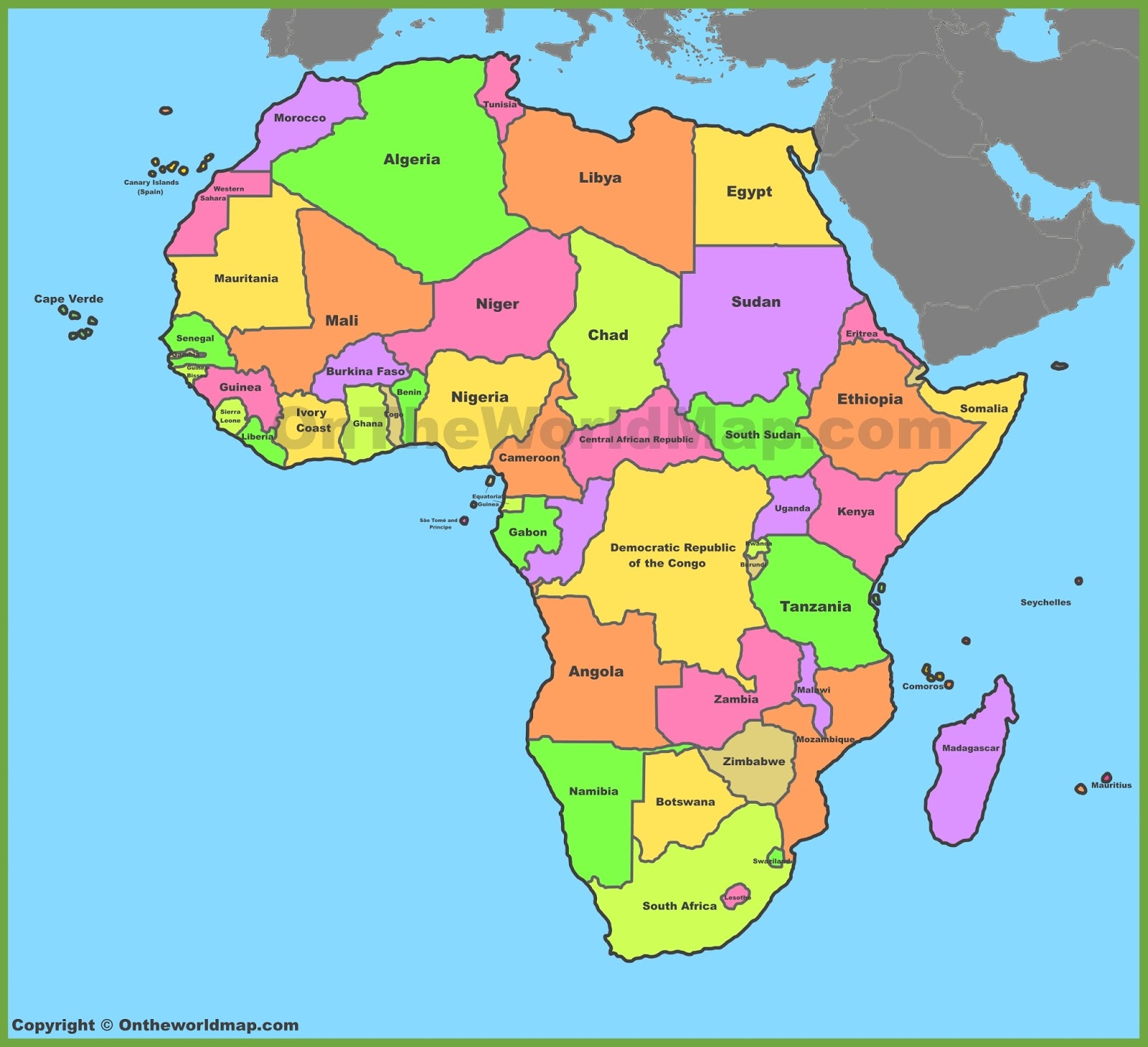 Social science africa political map africa political map gumiabroncs Gallery