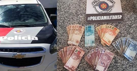 Suspeito oferece dinheiro a policiais militares para não ser preso e acaba autuado em flagrante por corrupção ativa, em Vera Cruz