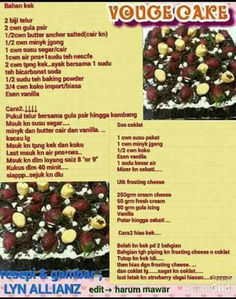resepi vouge cake