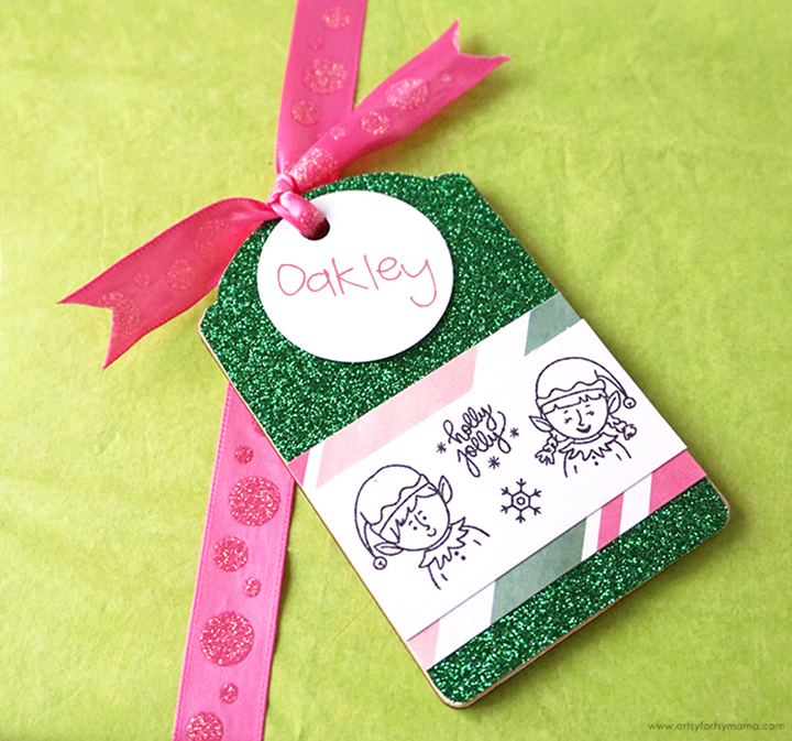 Stamped Christmas Gift Tag