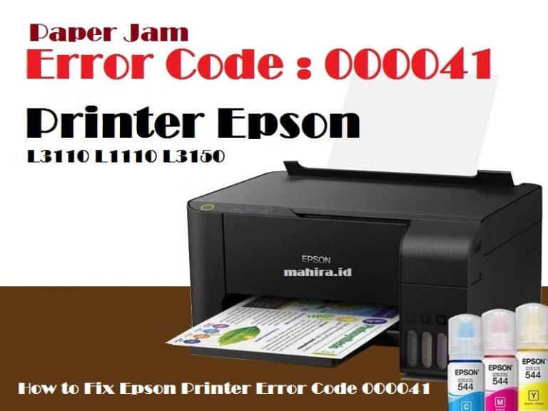 Printer Epson L3110 Kode Error 000041