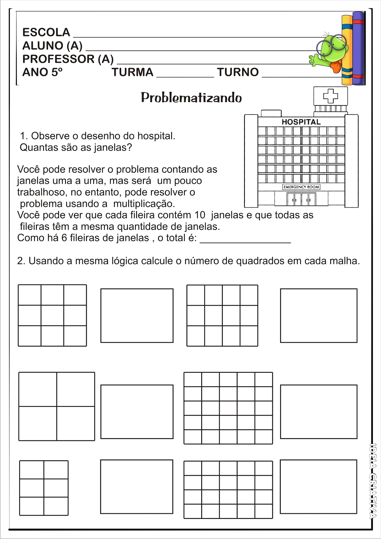 Atividade Matematica Problemas 5º Ano