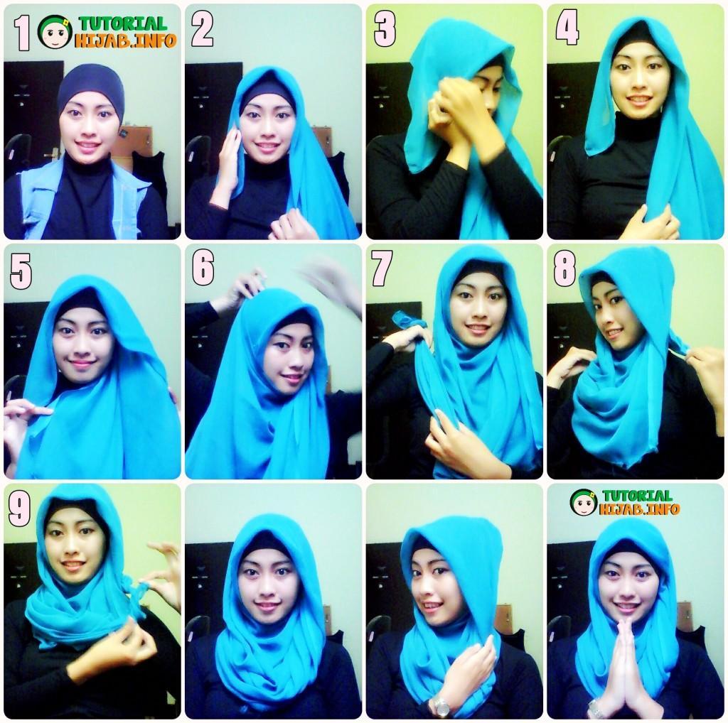 22 Gambar Lengkap Tutorial Hijab Remaja Kekinian Paling Fenomenal