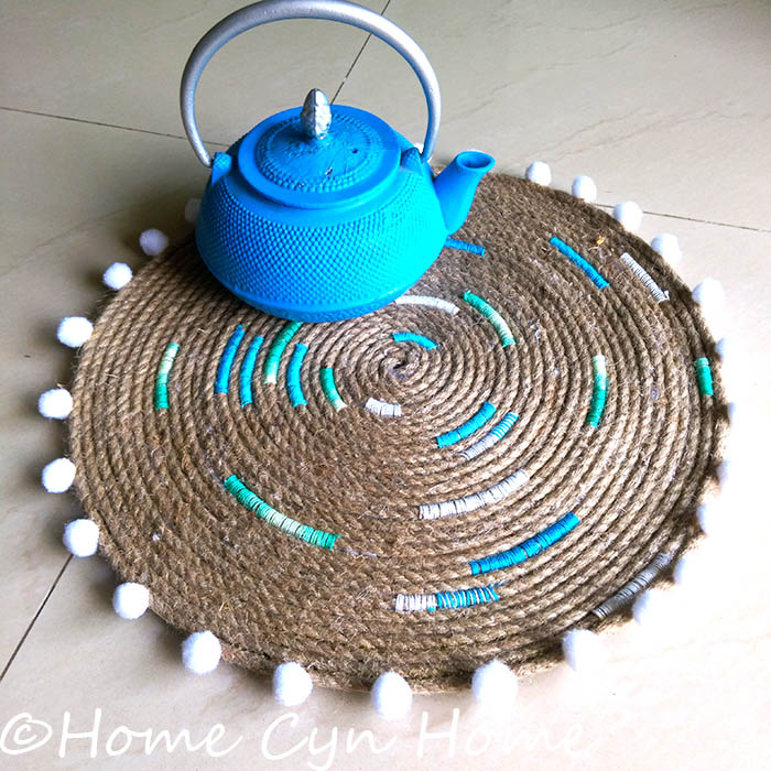 A simple project using hemp rope and a hot glue gun to prettify your home