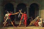 El juramento de los Horacios, una de las obras más importantes del pintor neoclásico francés Louis David