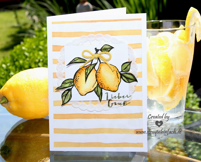Zitrone Karte mit Stampin Up