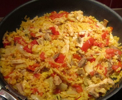 Risotto chicken and tomatoes