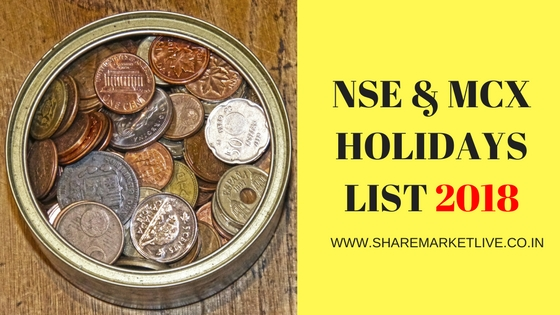 share market holidays 2018
