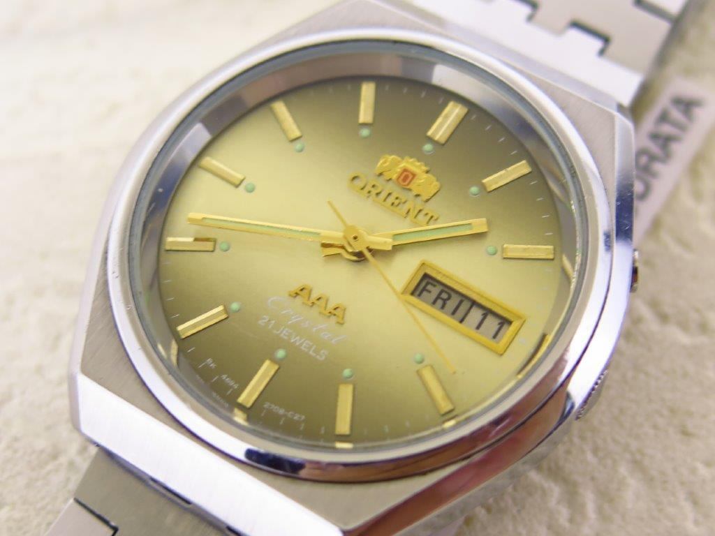 ORIENT CRYSTAL DEGRATION BROWN DIAL - AUTOMATIC 21 JEWELS - NOS
