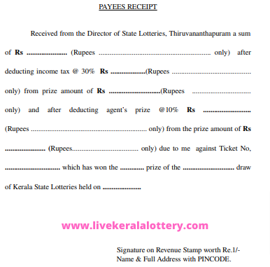 kerala lottery claim form