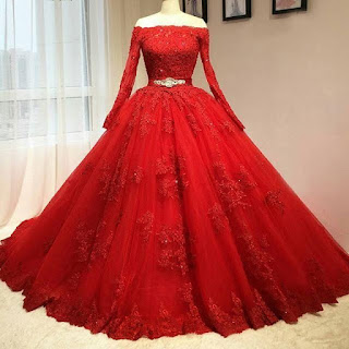 Red Gown, Ball Gown, Gown, dress