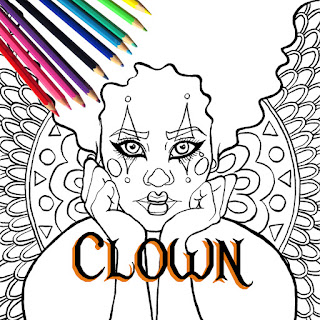 Halloween Clown Printable Coloring Page