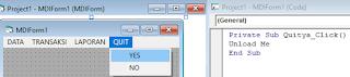 Membuka view code pada menu editor
