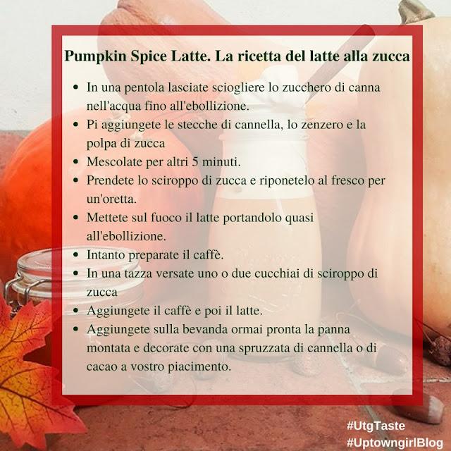 Pumpkin Spice latte. Latte alla zucca ricetta