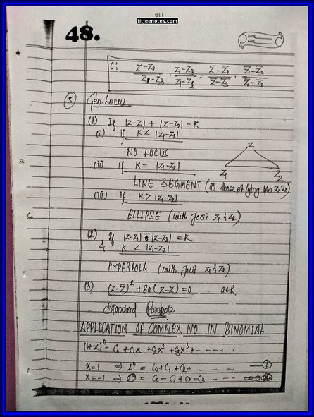 IITJEE Competition Notes On Complex Number 48