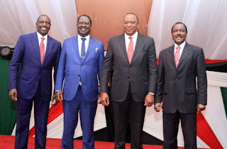 The Top four leaders to be handed over BBI report today at statehouse. PHOTO | PSCU