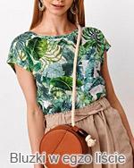 bluzki w egzotyczne liście