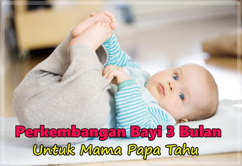 Info Lengkap Perkembangan Bayi 3 bulan Untuk Mama Papa Tahu