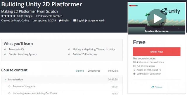 [100% Free] Building Unity 2D Platformer