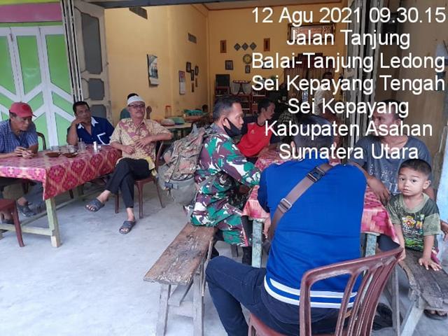 Jaga Silaturahmi Dengan Masyarakat, Personel Jajaran Kodim 0208/Asahan Dengan Cara Melalui Komsos Diwilayah Binaan