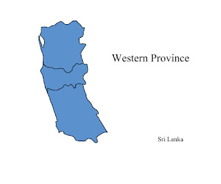 free download vector editable svg map of western province sri lanka wesnahira