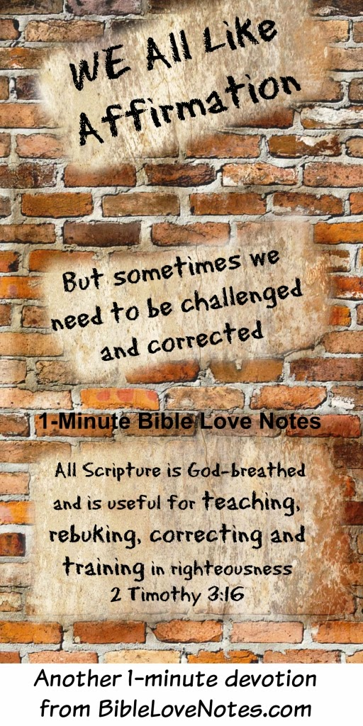 2 Timothy 3:16-17, God's Word rebukes and corrects us