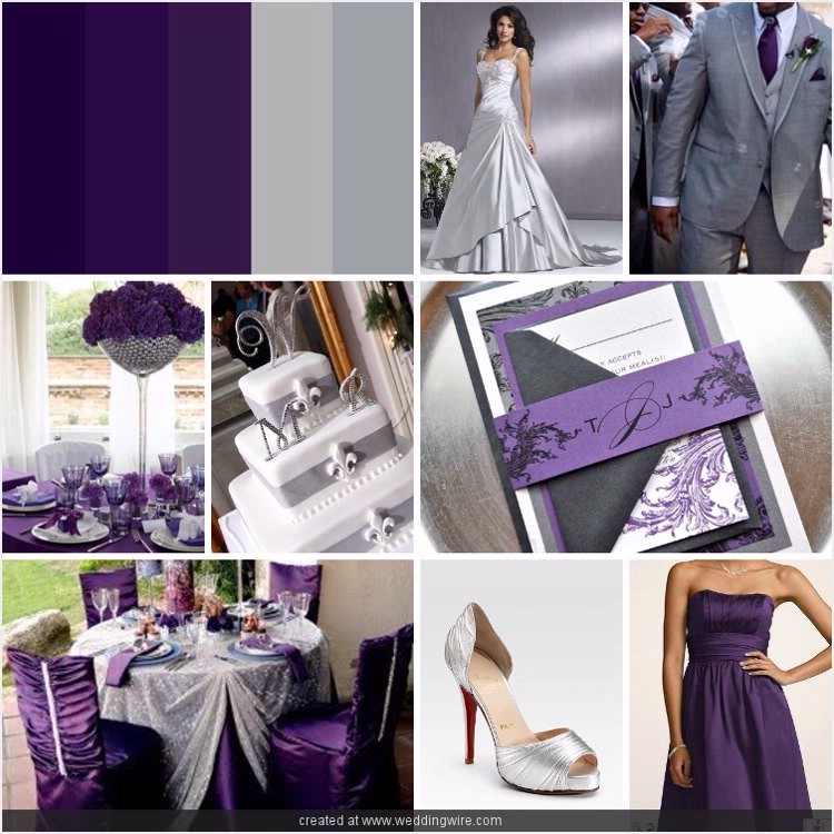 Eggplant And Red And Purple Wedding Ideas: JL Event Design
