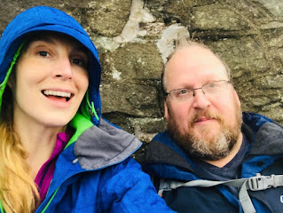 The author with her husband, Hywel Phillips, in Wales, where they now live.