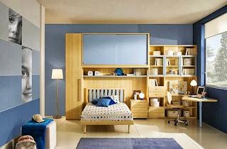 dormitorio juvenil color azul