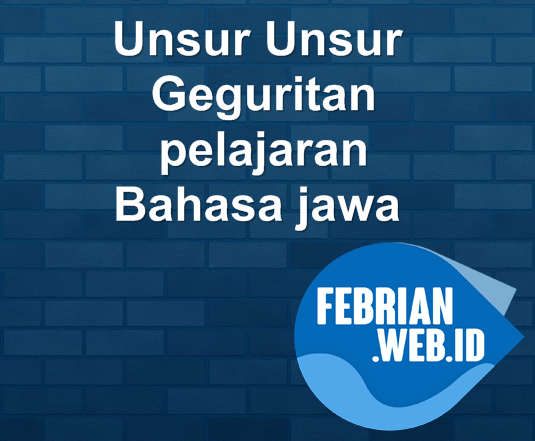 Unsur Unsur Geguritan dalam Bahasa jawa