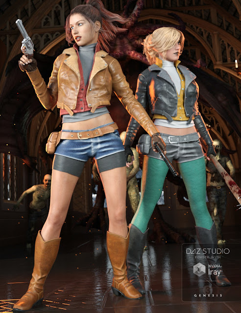 Myrna Outfit for Genesis 3 Female