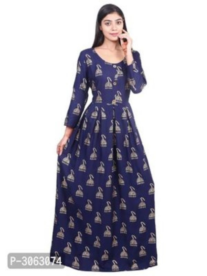 New Arrival Rayon Printed Gowns
