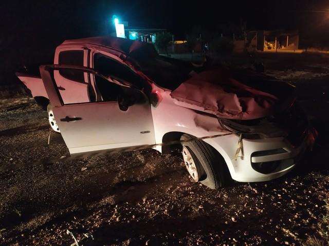 Homem que ia para velório de cunhado morre após carro capotar na RN-288