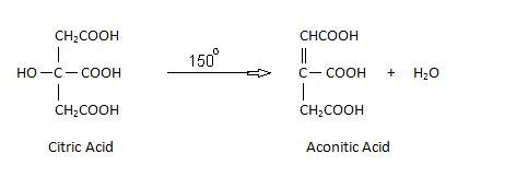citric acid Action of Heat.