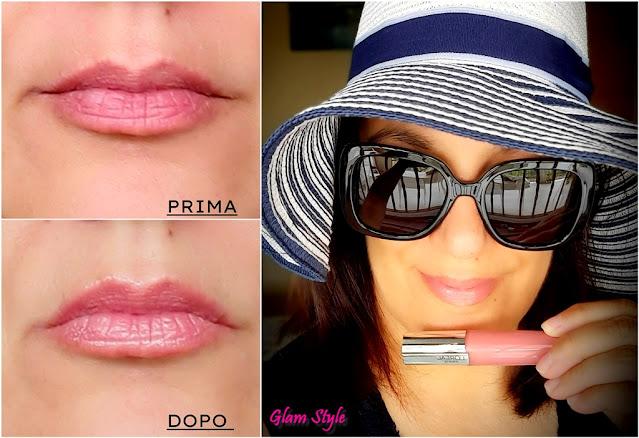 gloss volumizzante l'oréal prima e dopo