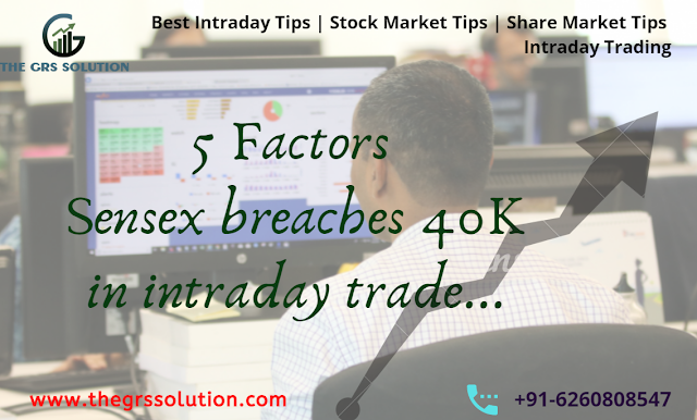 5 Factors : Sensex breaches 40K in intraday trade... The GRS Solution | Best Stock Trading Services Provider RSS Feed THE GRS SOLUTION | BEST STOCK TRADING SERVICES PROVIDER RSS FEED | THE-GRS-SOLUTION.BLOGSPOT.COM BUSINESS EDUCRATSWEB