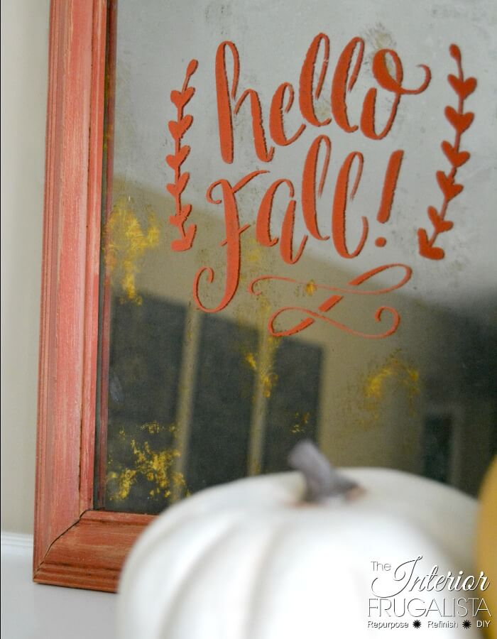 DIY Antiqued Framed Glass For Fall