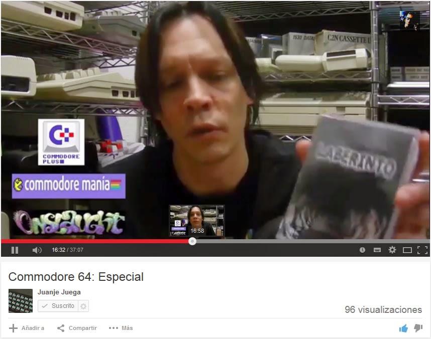 Participación de Bieno en el especial de Juanje sobre C64